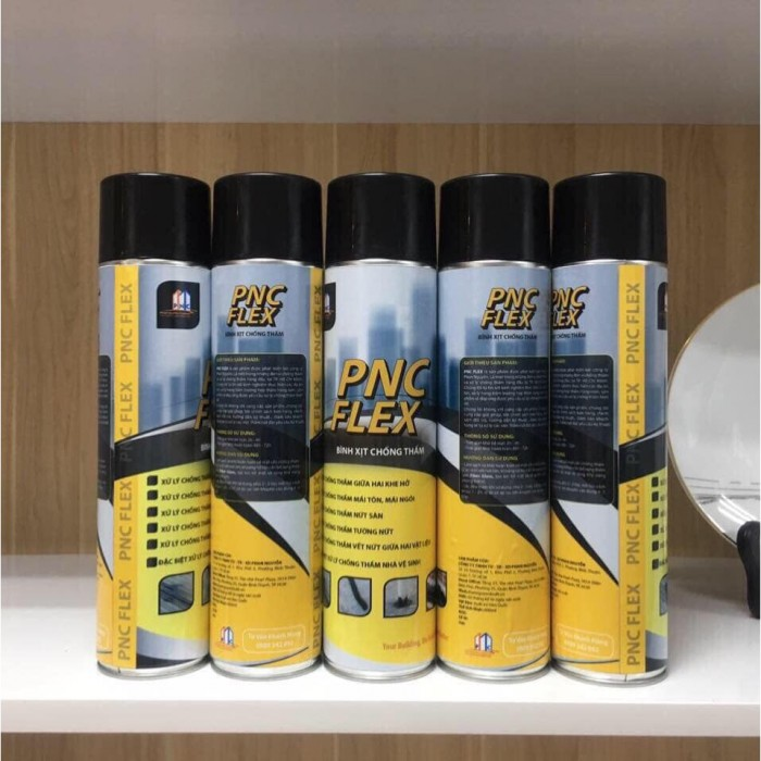 Bình Xịt Chống Thấm Vết Nứt Tường, Trần Sàn PNC FLEX 450ml - PNC400