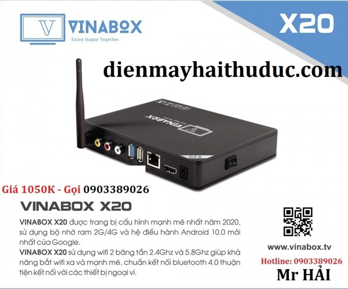 VinaBox X20 Thiết kế nhỏ gọn, thanh thoát, Có đủ 3 cổng AV để kết nối với tivi đời cổ hoặc dàn âm thanh nghe nhạc, karaoke