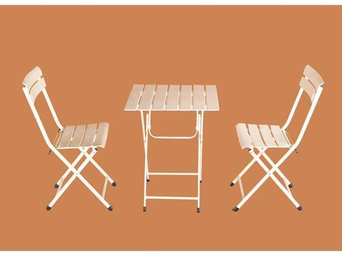 Bàn ghế xếp fansipan sắt mini