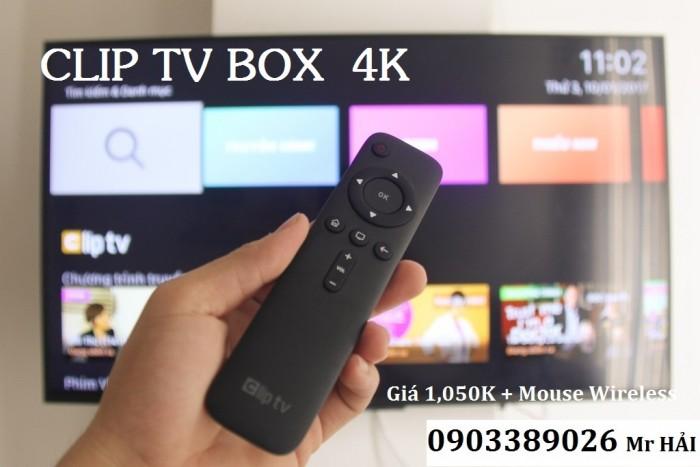 Android Clip TV Box - Hộp truyền hình internet. Clip TV Box Box phát hình ảnh film chất lượng 4K, và thêm ứng dụng Audio Movie cho người khiếm thị, với 100 kênh truyền hình miễn phí với đầy đủ các kênh VTV, HTV, HCTV, TodayTV, Vĩnh Long 1, v.v..