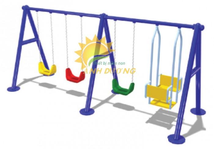Chuyên sản xuất xích đu trẻ em cho trường mầm non, công viên, khu vui chơi3