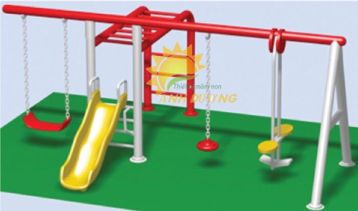 Chuyên sản xuất xích đu trẻ em cho trường mầm non, công viên, khu vui chơi5