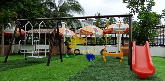 Chuyên sản xuất xích đu trẻ em cho trường mầm non, công viên, khu vui chơi10
