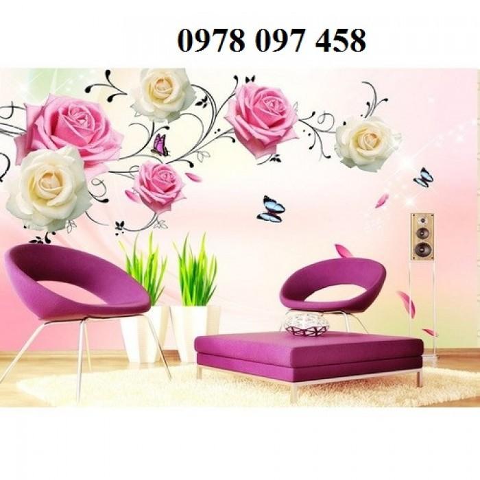 Tranh gạch - tranh đẹp hoa hồng