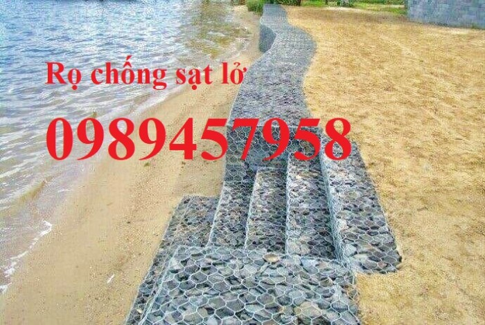 Phân phối rọ đá 2x1x1, rọ thép 2x1x0,5, Rọ đá bọc nhựa PVC0