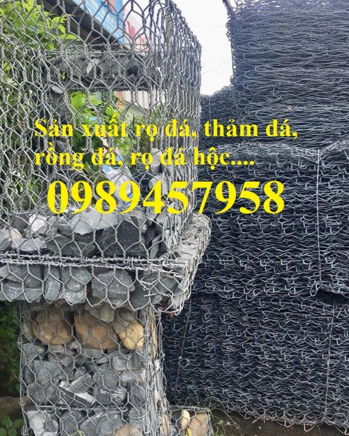 Phân phối rọ đá 2x1x1, rọ thép 2x1x0,5, Rọ đá bọc nhựa PVC2