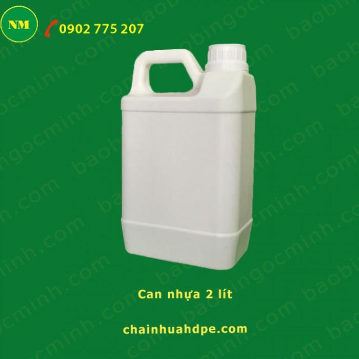 Can nhựa 5 lít vuông Ngọc Minh đựng hóa chất, dầu nhớt.5
