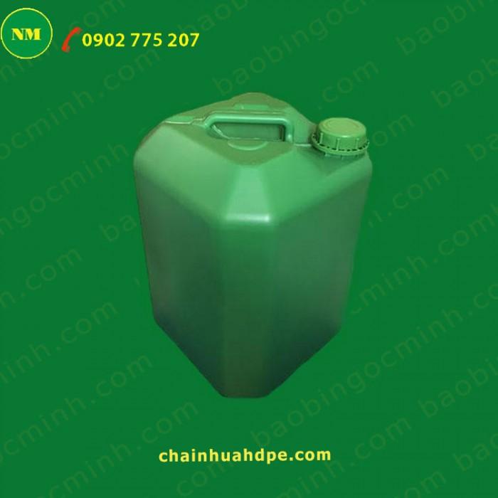 Can nhựa 5 lít vuông Ngọc Minh đựng hóa chất, dầu nhớt.4