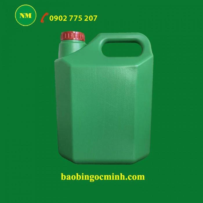 Can nhựa 5 lít vuông Ngọc Minh đựng hóa chất, dầu nhớt.11