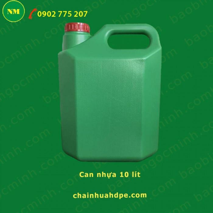 Can nhựa 5 lít vuông Ngọc Minh đựng hóa chất, dầu nhớt.10