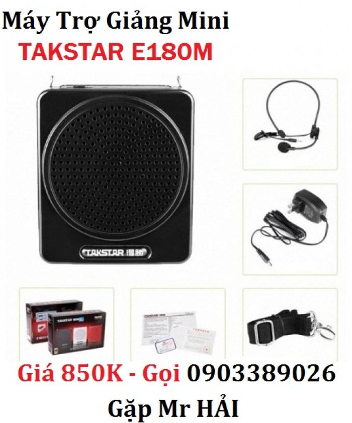 Sản phẩm bao gồm: Loa phát E180M, micro choàng đầu, sạc 5V, dây đeo, sách hướng dẫn, phiếu bảo hành chính hãng ( bảo hành toàn cầu từ Takstar )