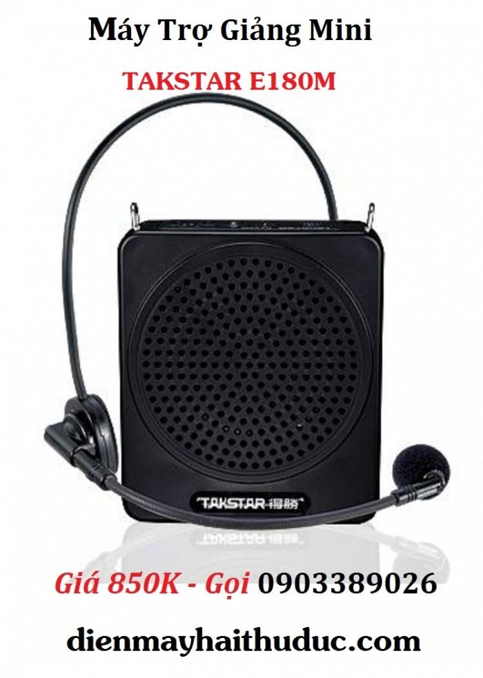 Máy trợ giảng Takstar E180M Công suất 12W Chức năng chơi nhạc hỗ trợ USB, thẻ Micro SD, Line in