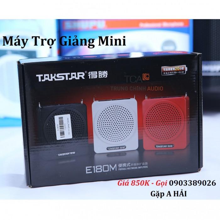 Máy trợ giảng Takstar E180M Công nghệ mạch kỹ thuật số, công suất 12W, hỗ trợ chức năng phát nhạc Mp3 qua USB và TF thẻ nhớ với chất lượng âm thanh tuyệt vời
