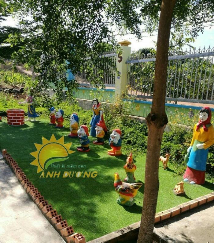 Chuyên nhận thi công vườn cổ tích cho trường mầm non, công viên, sân chơi