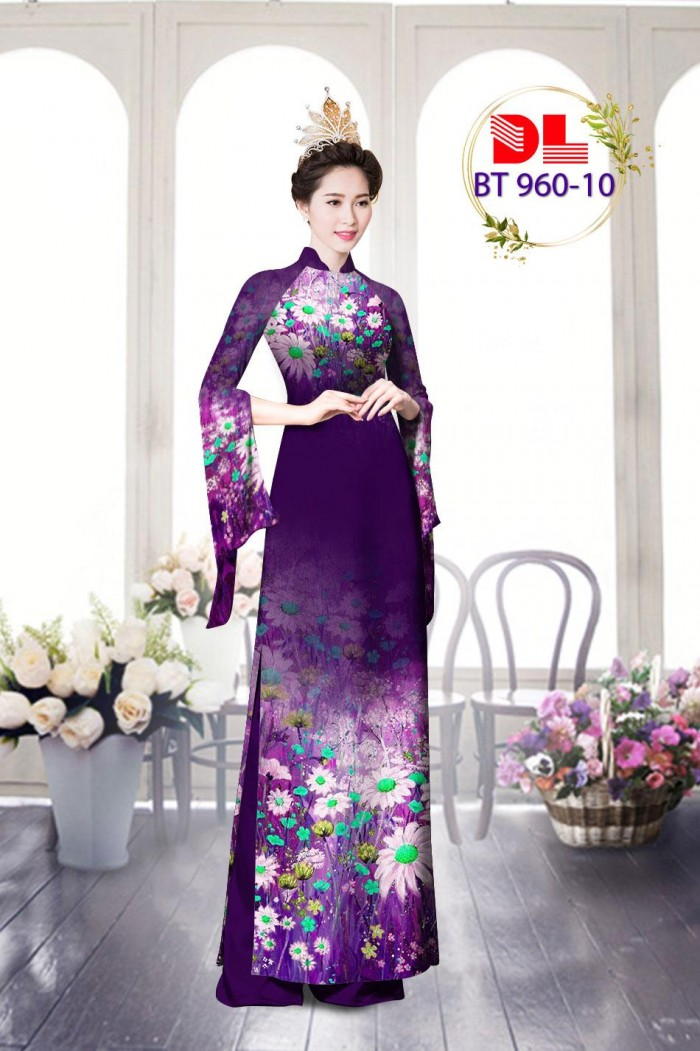 Vải áo dài lụa ngọc mai cao cấp BT 9601
