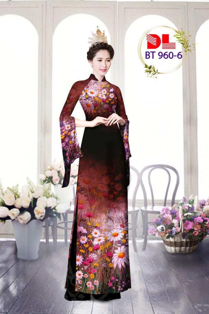 Vải áo dài lụa ngọc mai cao cấp BT 96012
