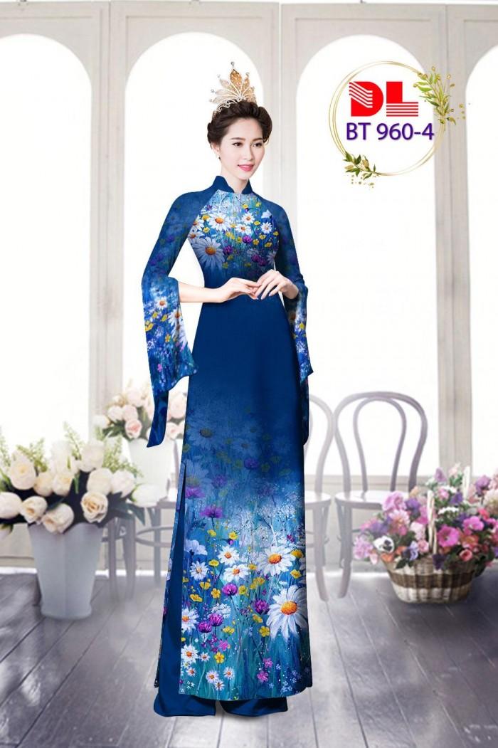 Vải áo dài lụa ngọc mai cao cấp BT 96011