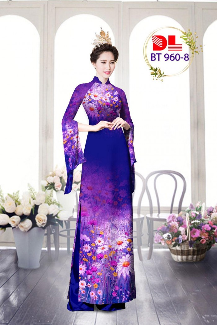 Vải áo dài lụa ngọc mai cao cấp BT 96013