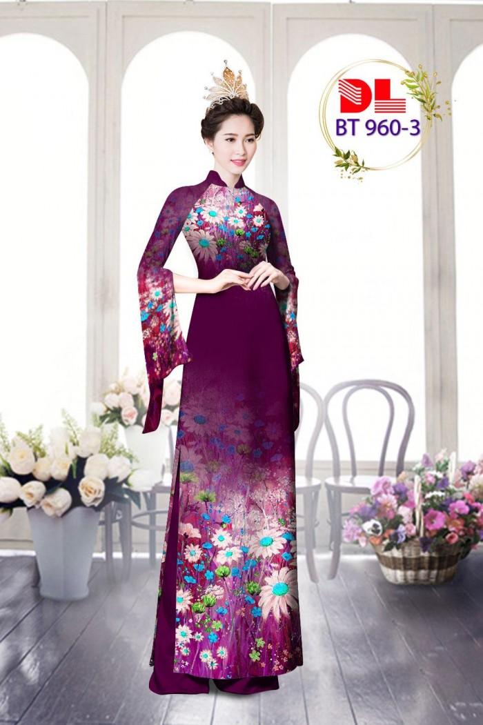Vải áo dài lụa ngọc mai cao cấp BT 96010
