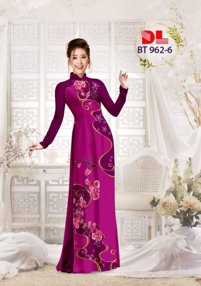 Vải áo dài lụa ngọc mai cao cấp BT 9620