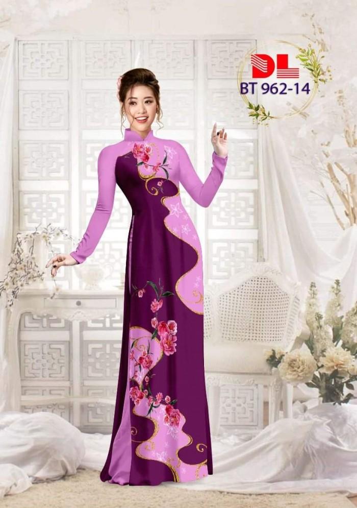 Vải áo dài lụa ngọc mai cao cấp BT 9621
