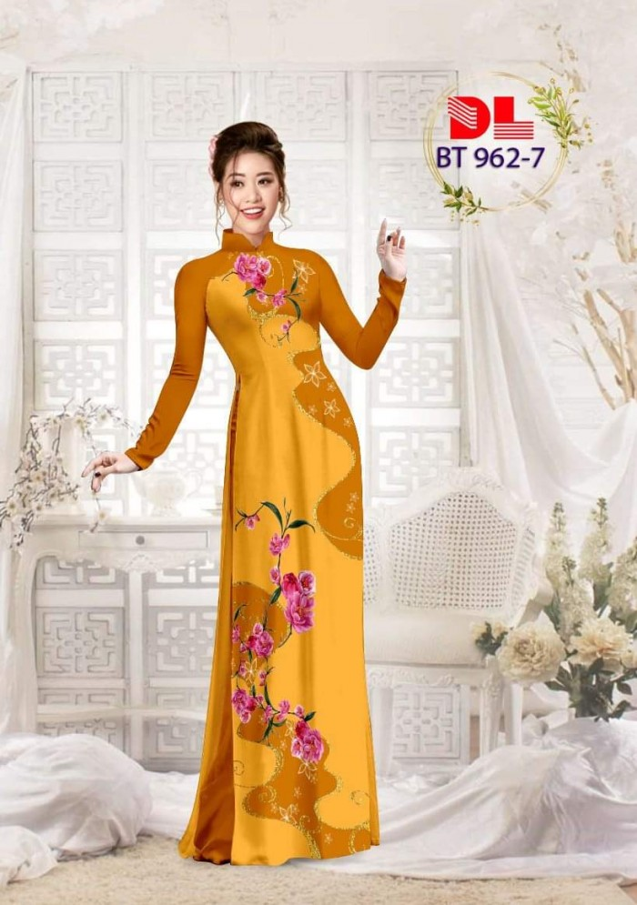 Vải áo dài lụa ngọc mai cao cấp BT 9624