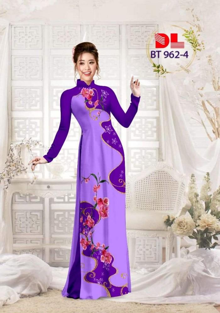 Vải áo dài lụa ngọc mai cao cấp BT 96211