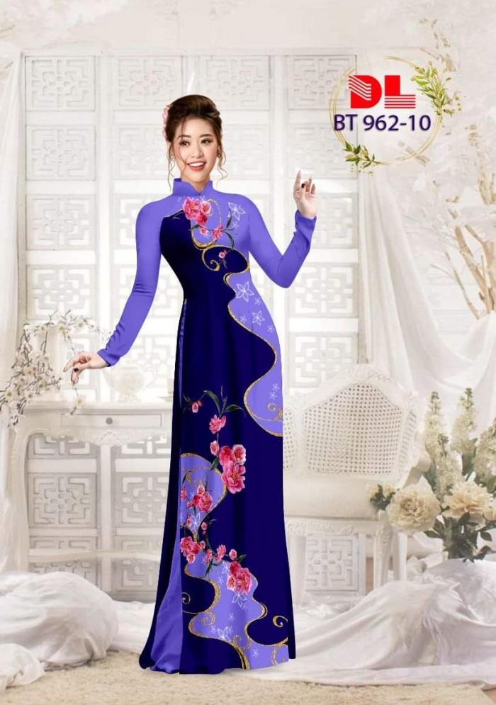Vải áo dài lụa ngọc mai cao cấp BT 9628