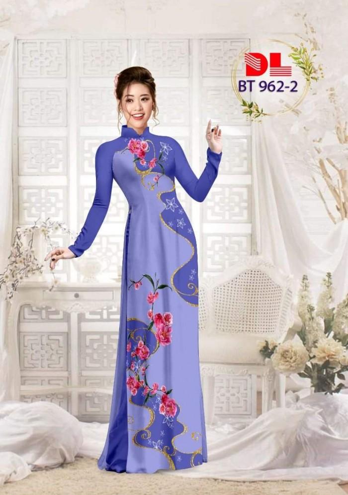 Vải áo dài lụa ngọc mai cao cấp BT 96210