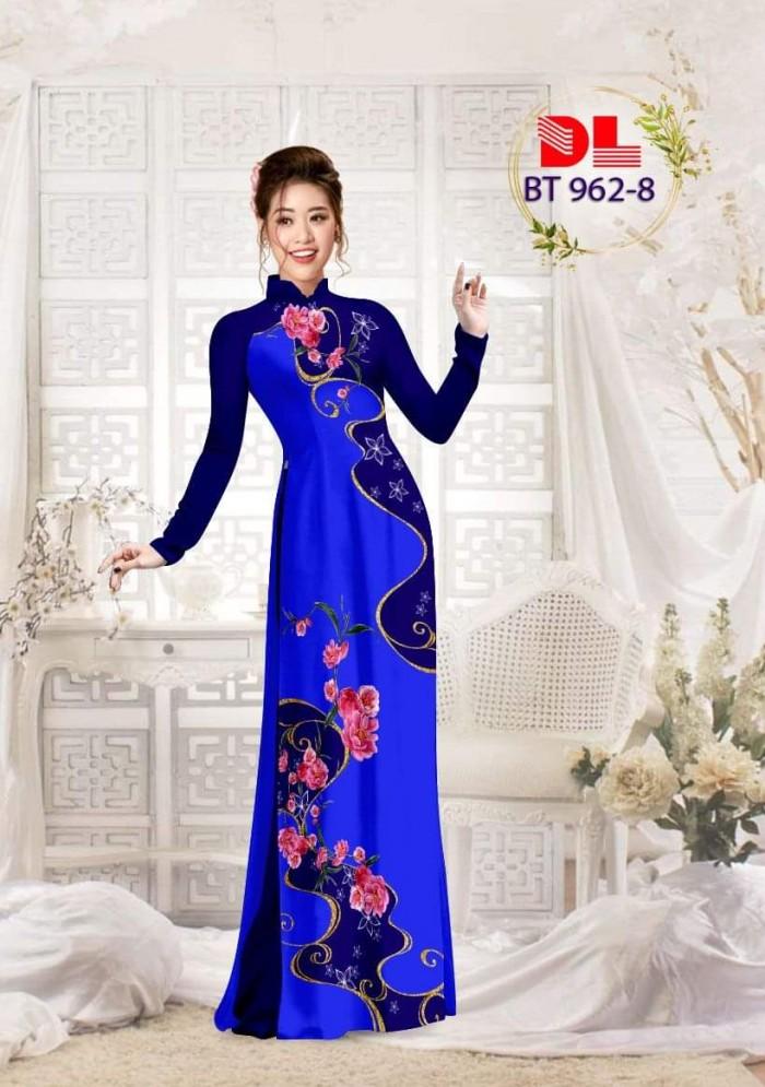 Vải áo dài lụa ngọc mai cao cấp BT 96214