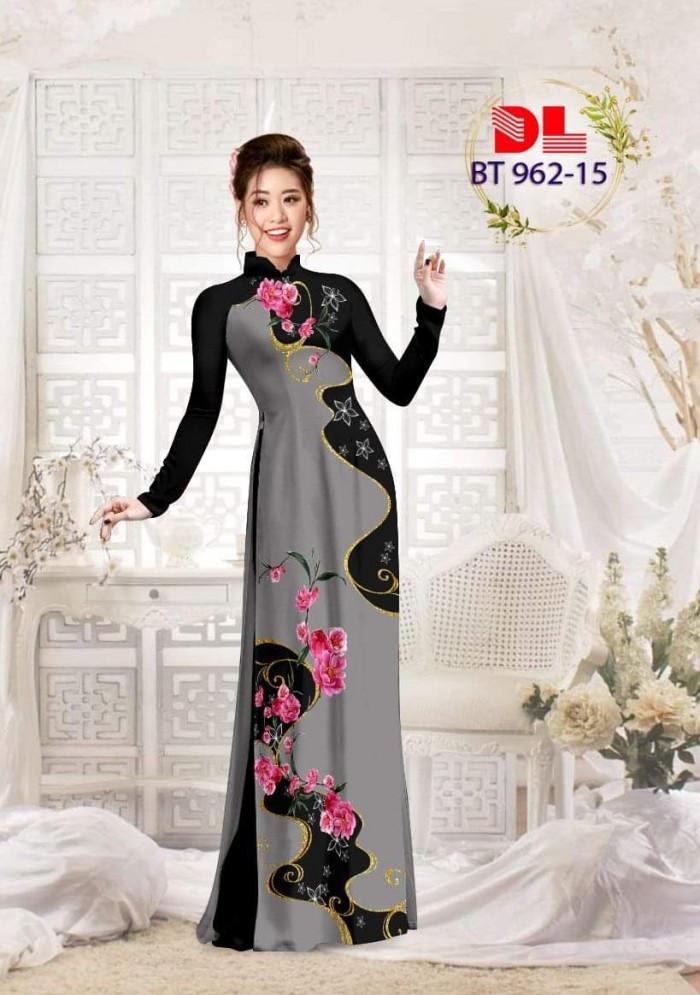 Vải áo dài lụa ngọc mai cao cấp BT 96212