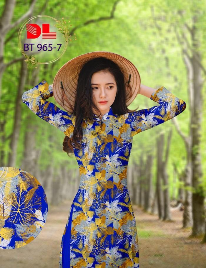 Vải áo dài lụa ngọc mai cao cấp BT 96510