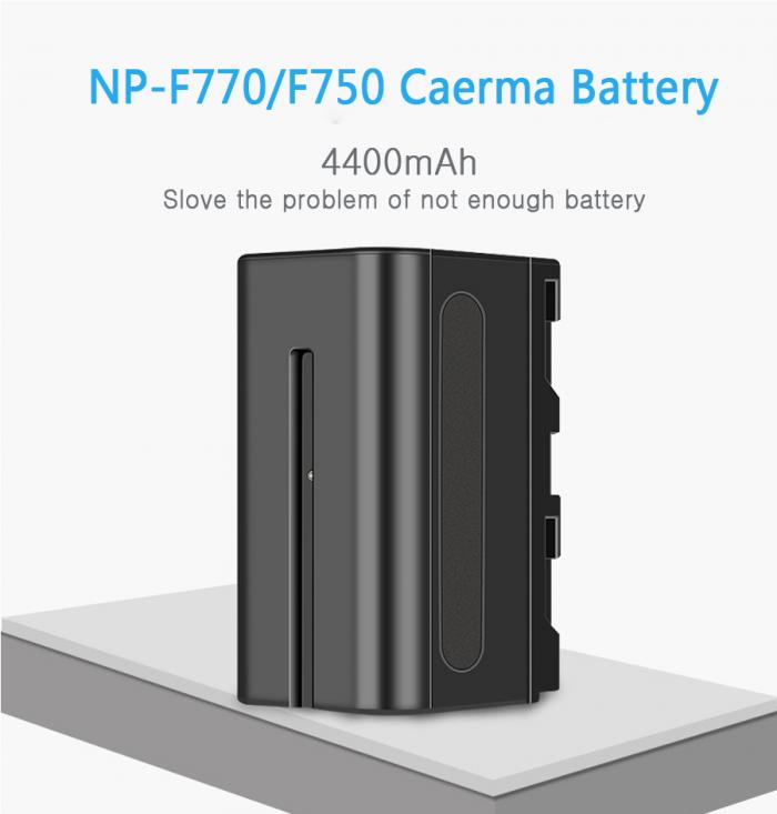 Pin máy quay NP-F770 camera photography LED cho máy quay F series0