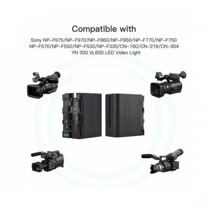 Pin máy quay NP-F970 Video camera LED cho máy quay F series1