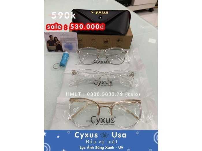Chuyên kính Cyxus Usa lọc ánh sáng xanh , UV bảo vệ mắt0
