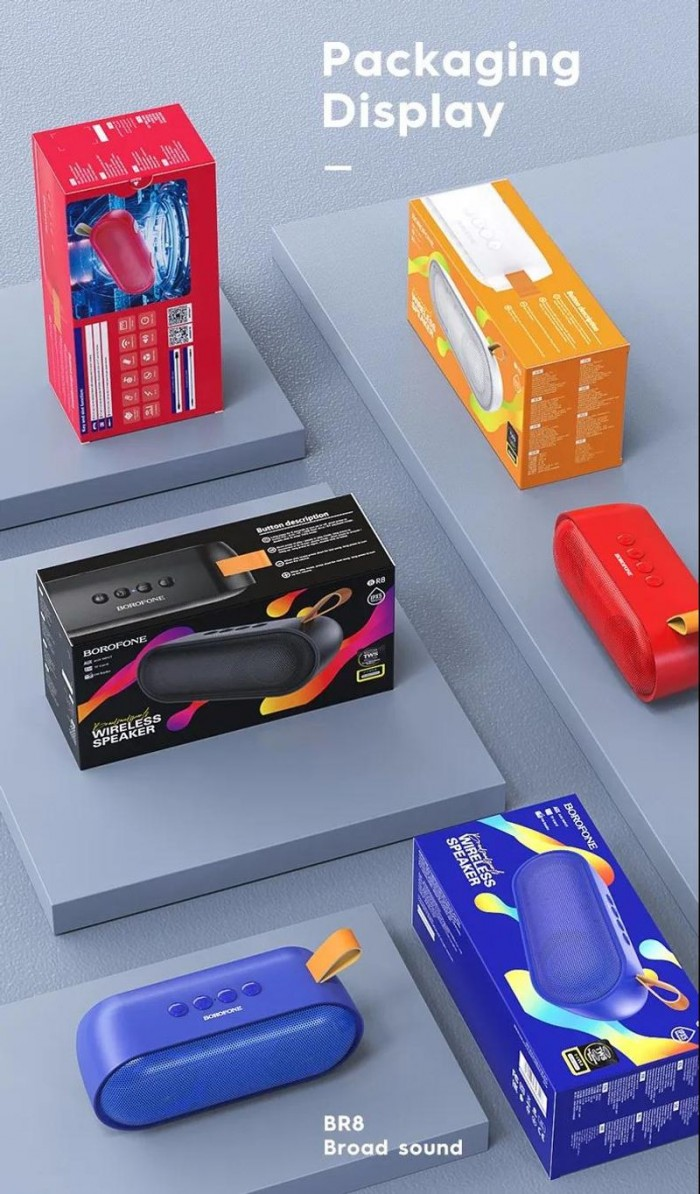 Loa bluetooth borofone BR8 nghe nhạc gọi điện FM hỗ trợ thẻ nhớ USB Âm T3