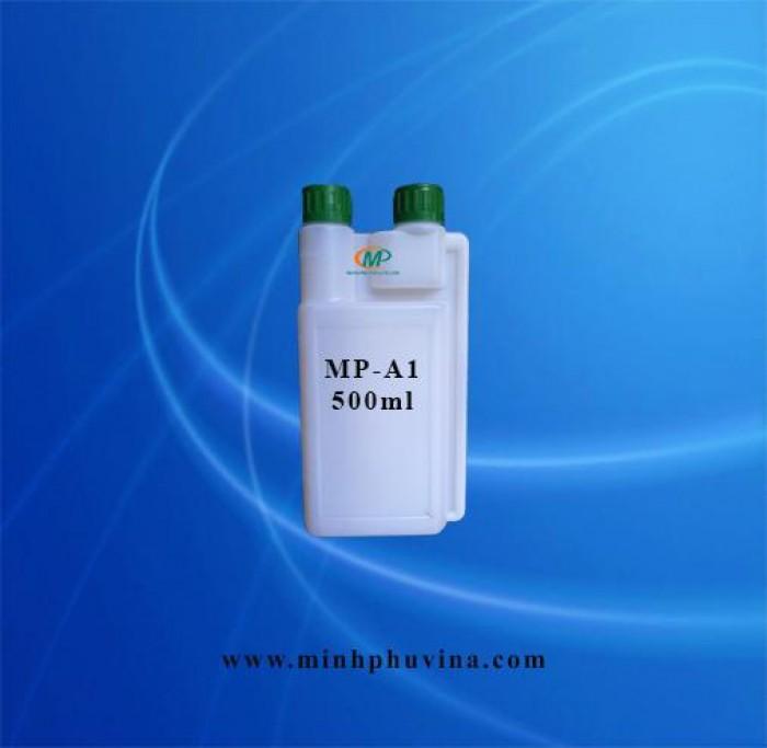 Chai nhựa HDPE hai đầu 500ml, khuy nắp 2 5 mm1