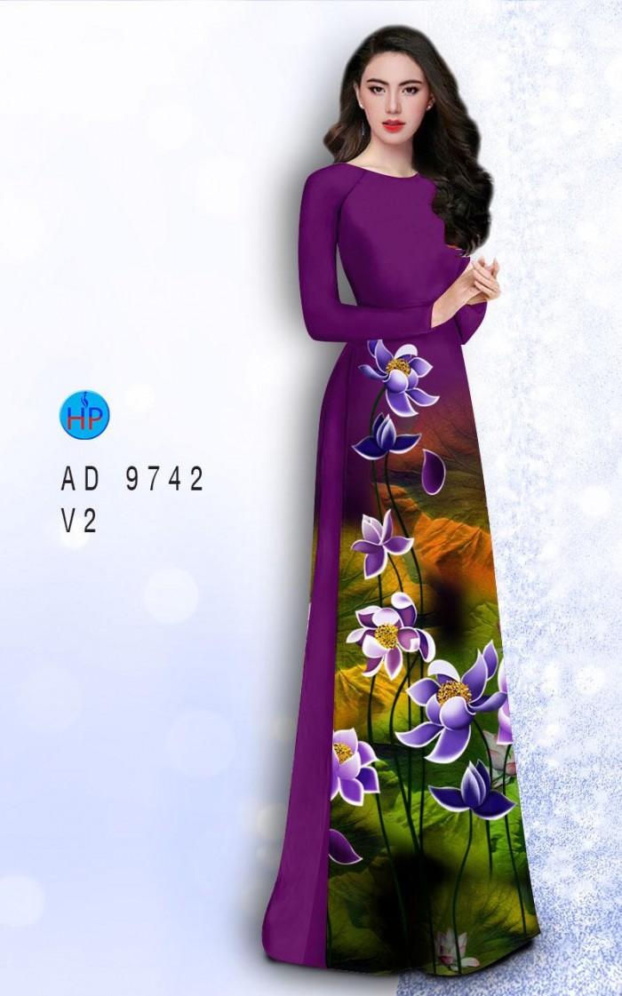 Vải áo dài lụa đông hưng 97423