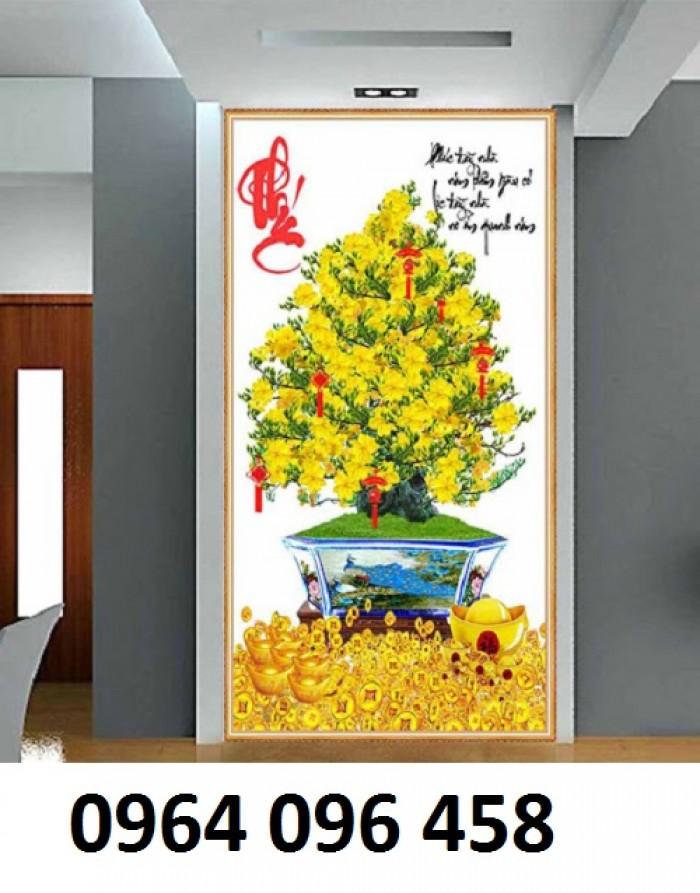 Tranh 3d cây mai - gạch tranh cây mai 3d - DK642
