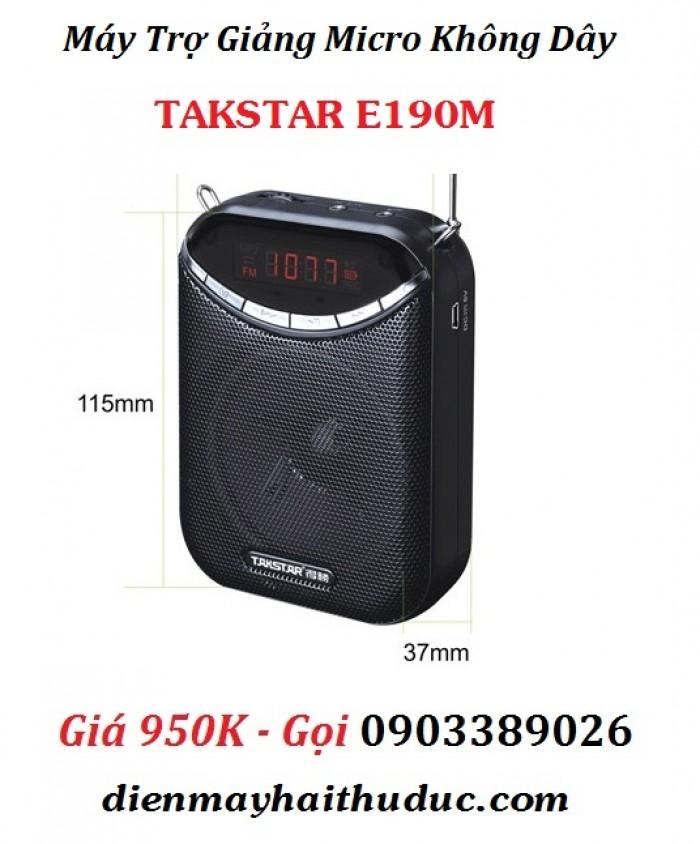 Máy trợ giảng không dây Takstar E190M Thích hợp cho: Giáo viên, hướng dẫn viên du lịch, người bán hàng, huấn luyện viên phòng tập,
