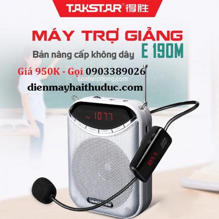 Máy trợ giảng không dây Takstar E190M Chức năng nghe đài FM như một chiếc radio nhỏ để nghe tin tức, đọc truyện giải trí.
