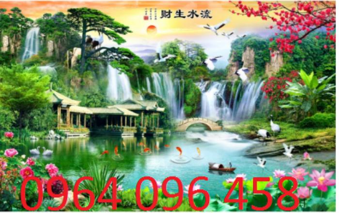 Mẫu tranh dán tường 3d cảnh thiên nhiên - DK894
