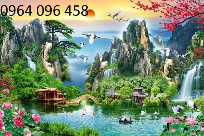 Mẫu tranh dán tường 3d cảnh thiên nhiên - DK898