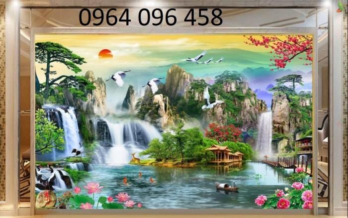 Mẫu tranh dán tường 3d cảnh thiên nhiên - DK896