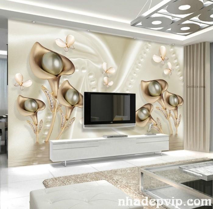 Mẫu tranh gạch 3d phòng khách - SL824