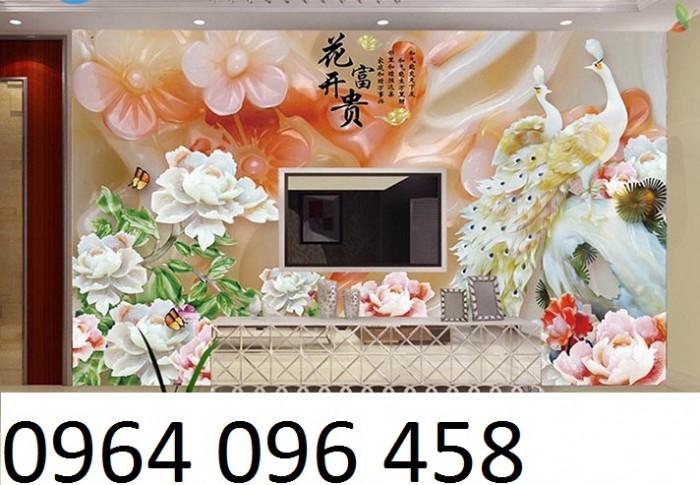 Mẫu tranh gạch 3d phòng khách - SL822