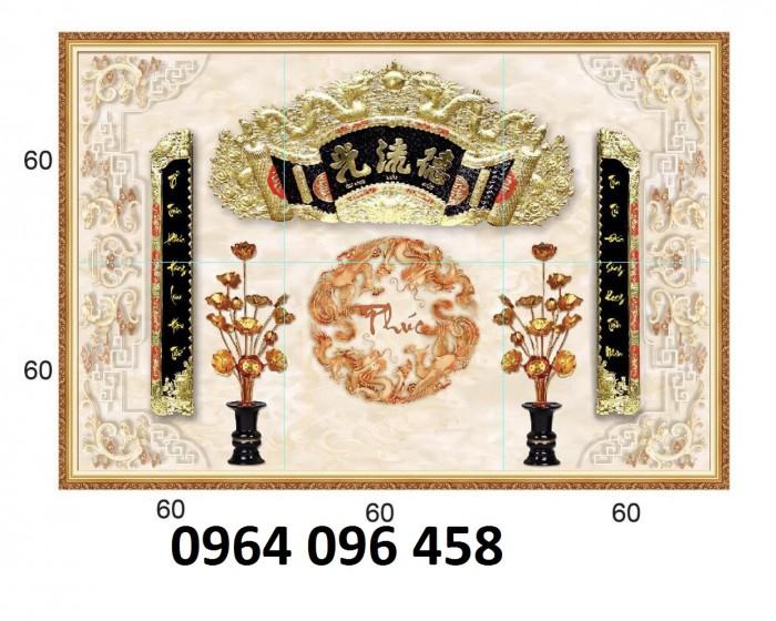 Tranh gạch 3d - gạch tranh 3d phòng thờ - DK812