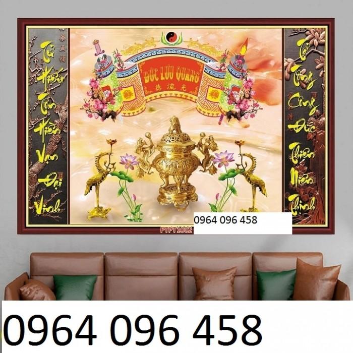 Tranh gạch 3d - gạch tranh 3d phòng thờ - DK816