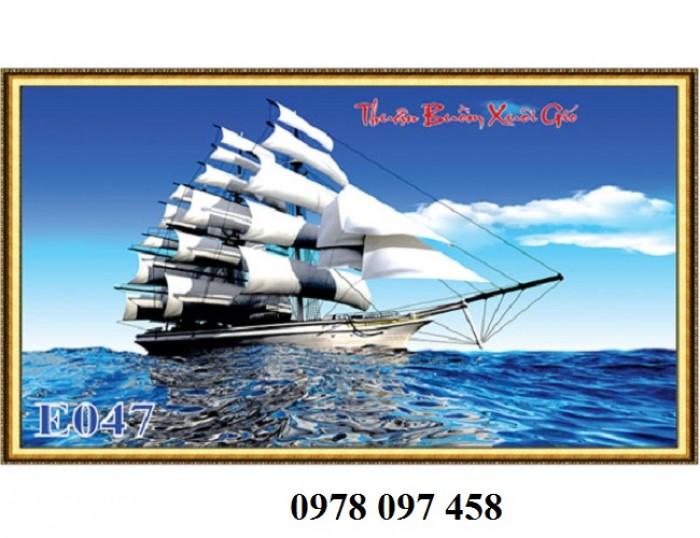 Tranh thuyền buồm - gạch tranh 3D1