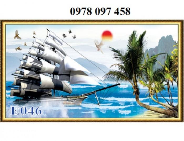 Tranh thuyền buồm - gạch tranh 3D0
